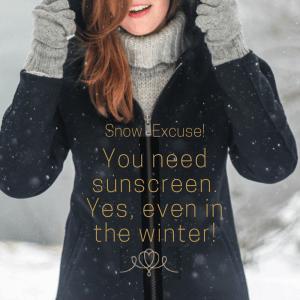 need wear sunscreen winter